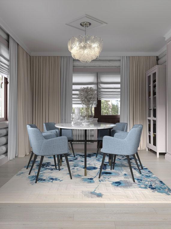 Пастельные оттенки и лаконичные формы в обновлённом интерьере дома